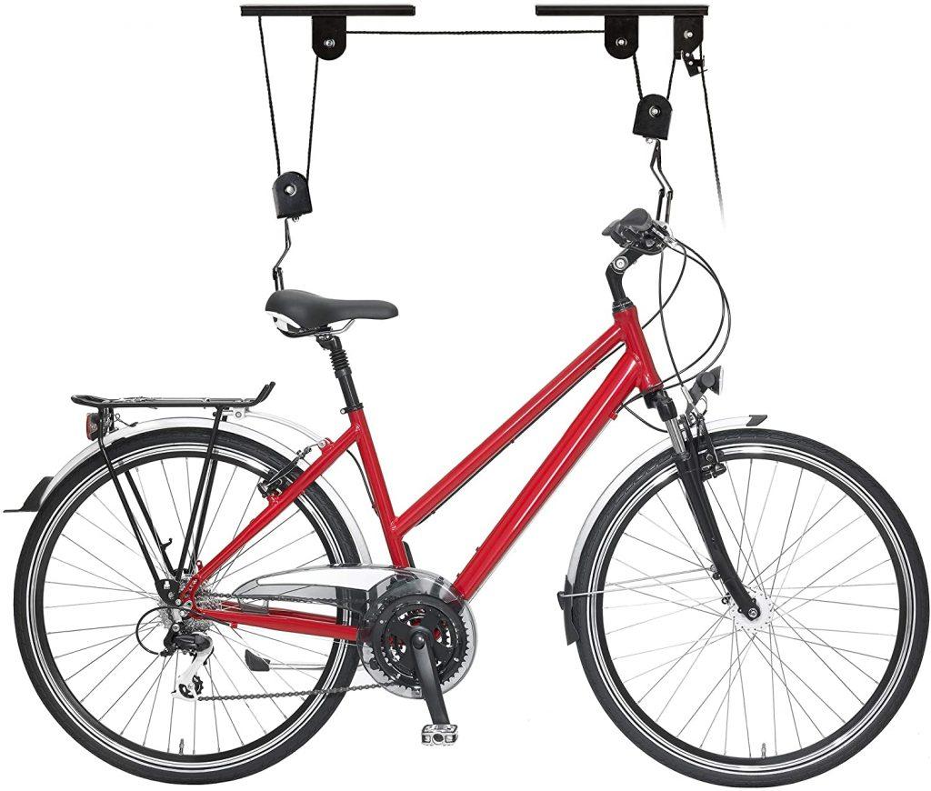 rangement de vélo à poulie