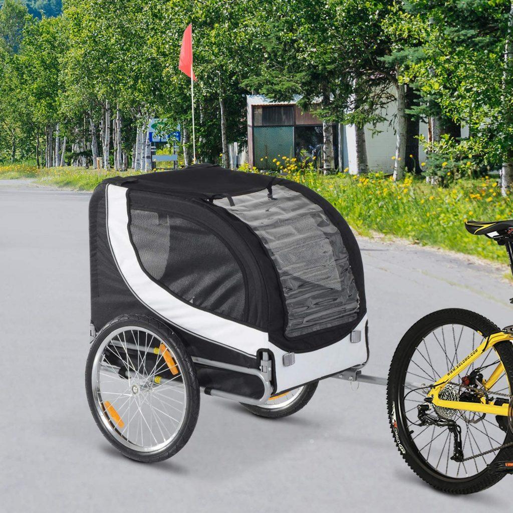 remorque vélo pour chien HOMCOM