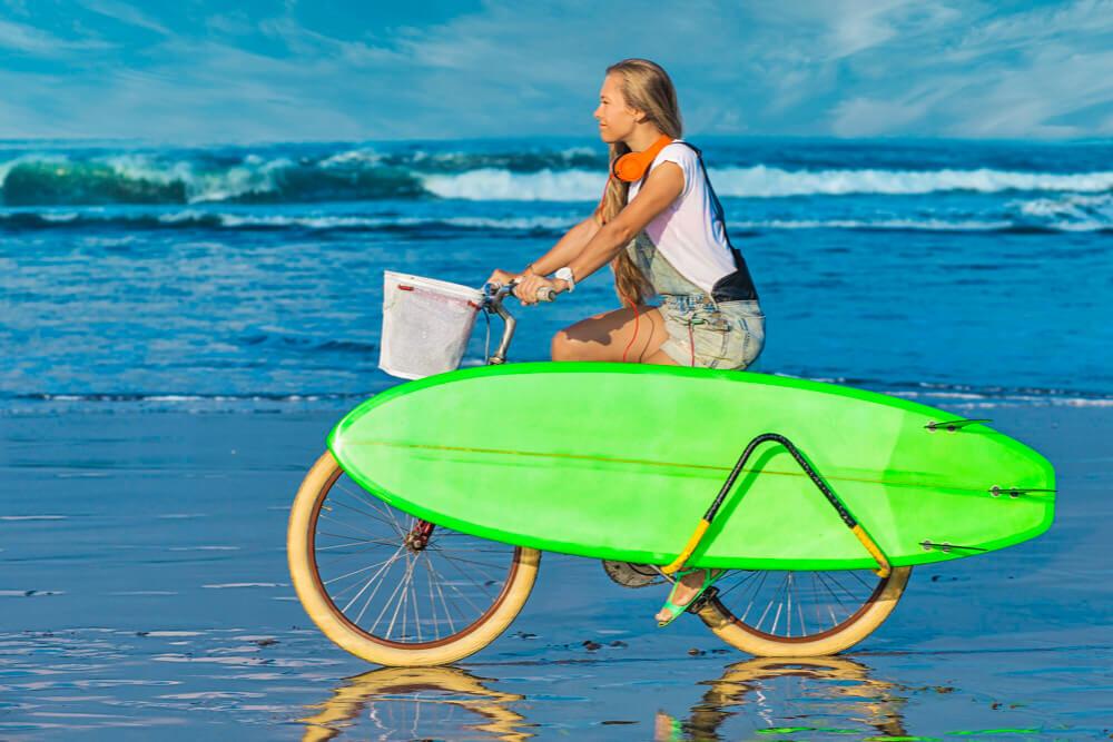 Porte surf longboard vélo