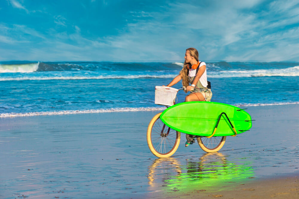 Porte surf longboard pour vélo