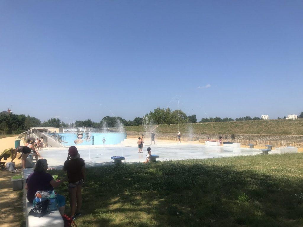 aire de jeu d'eau à Nevers